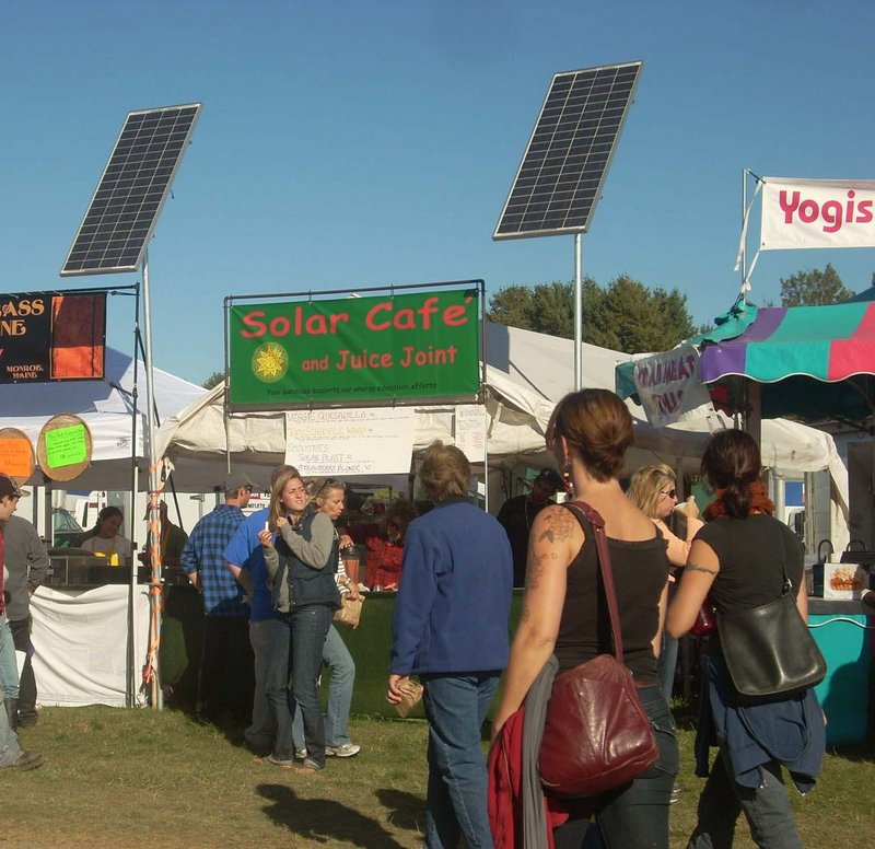 Powered by the sun, the Solar Cafe serves an all-vegan menu.