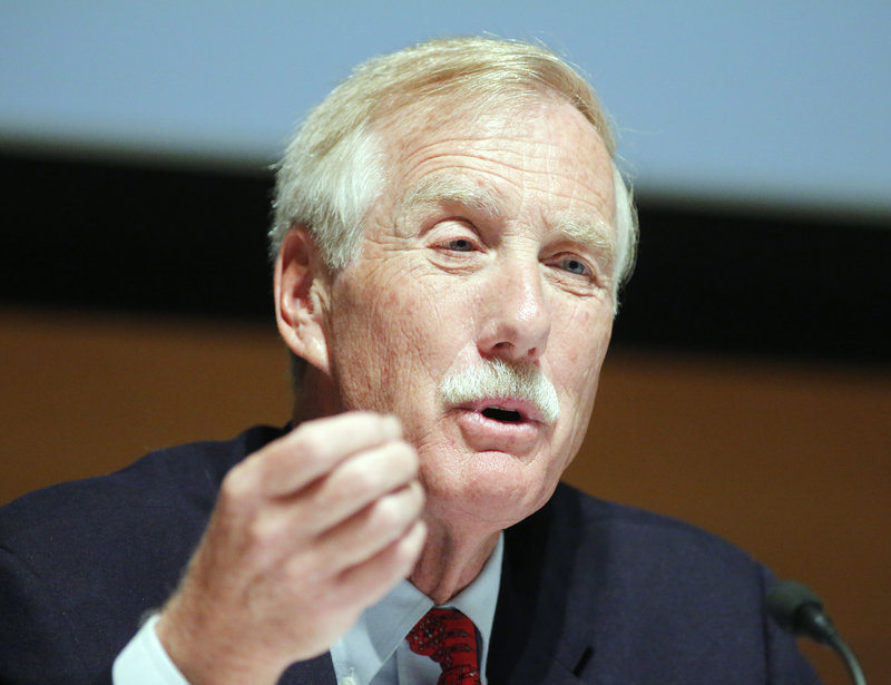 "Independent U.S. Senate candidate Angus King remains positive about his support for wind power. ""I was trying to do something I thought was good for Maine and the country, and for these people to imply there was something wrong or nefarious just isn't right,"" he says."