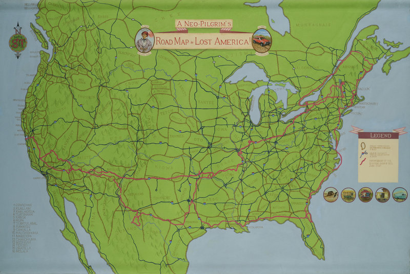 """""""A Neo-Pilgrim's Road Map to Lost America."""""""