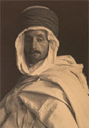 """F. Holland Day in Algerian Costume,"" circa 1901."