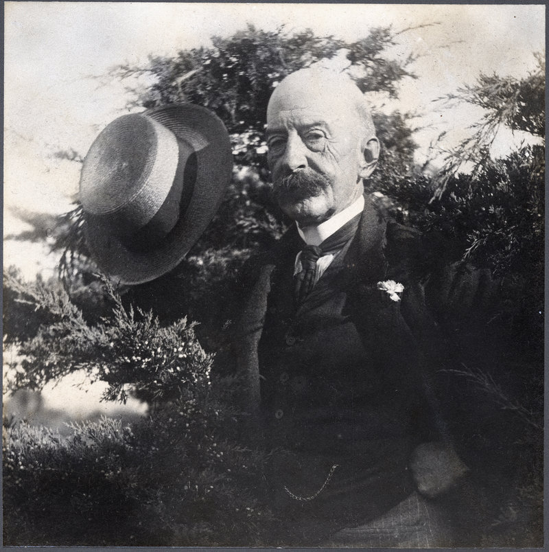 """Last official portrait of Homer,"" 1908, photograph by Peter Juley."
