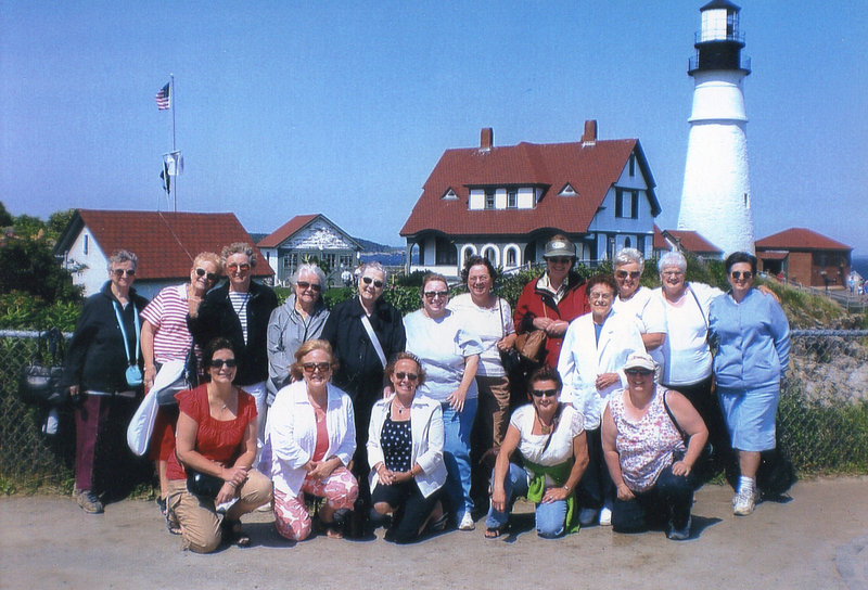 A widows group visits Portland Head Light in a program organized by the East Auburn Baptist Church.