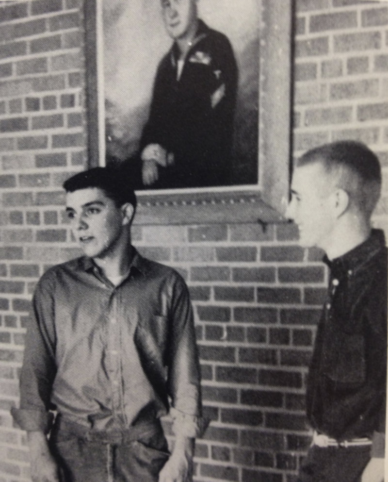 King, who was class president in both his junior and senior years, with an unidentified high school classmate.