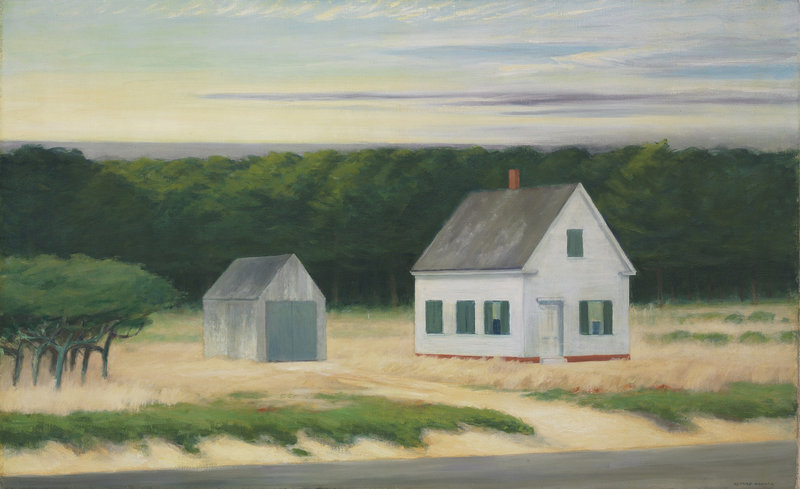 The Edward Hopper painting of a Cape Cod autumn scene.
