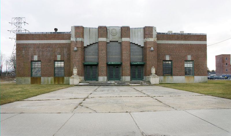 The old Maine National Guard Armory building on Broadway