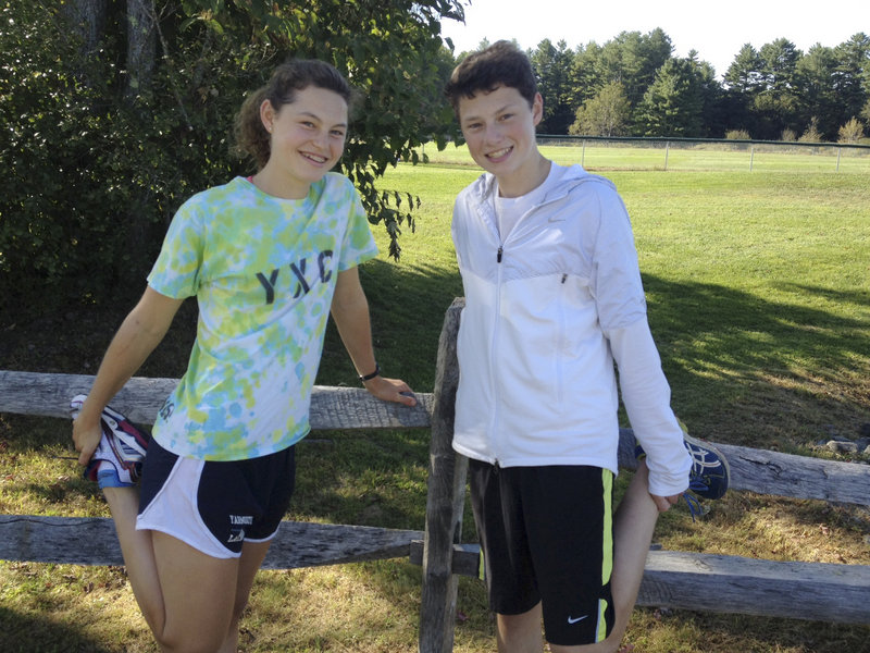 Sarah Becker, left, and her brother, Braden, joined cross country to prepare for Nordic skiing. Now it's grown on them.