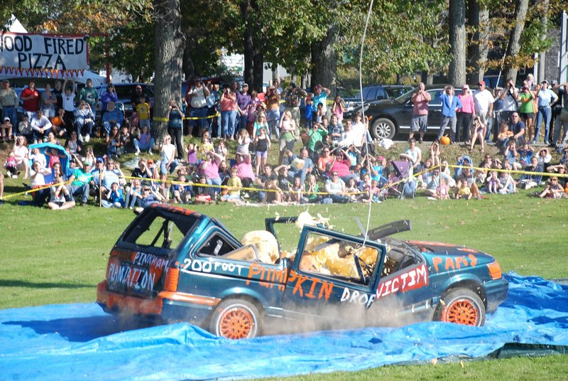 If they don't fail inspection beforehand, vehicles selected to be in the Pumpkin Drop surely will afterward.