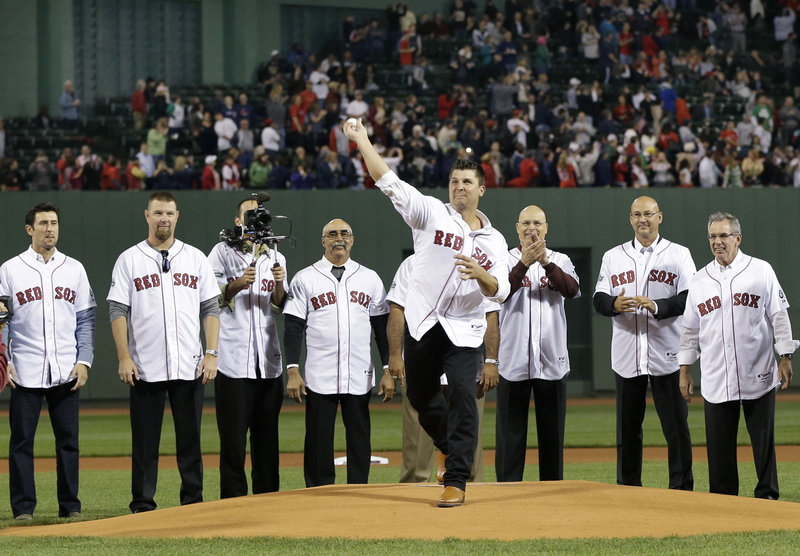 Keith Foulke, who threw the pitch that clinched the World Series for the Boston Red Sox in 2004, was on the Fenway Park mound with several teammates from that magical season Tuesday night. Only eight years ago …
