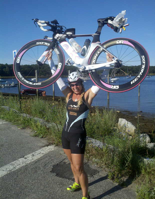 """Jen Small decided a change was a must. She was 33, her weight had soared and her habits were not good. That was five years ago. Today half of her body weight is gone, she's competed in a half-triathlon, and is planning for a marathon and full triathlon. And most important? """"I'm very happy."""""""
