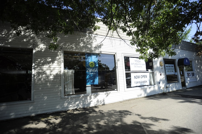 This photo shows Pura Vida Studio in Kennebunk, where dance studio instructor Alexis Wright allegedly ran a prostitution operation.