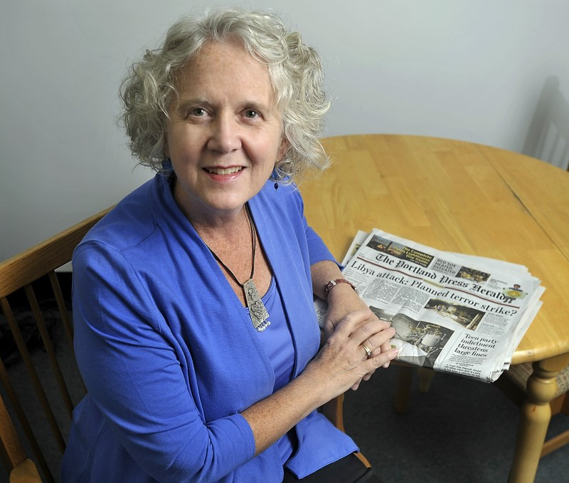Grace Cleaves of Portland has been a Press Herald subscriber since 1975. Gordon Chibroski/Staff Photographer