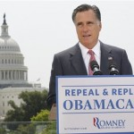 In this June 28, 2012, photo, Republican presidential candidate Mitt Romney speaks about the Supreme Court ruling on health care in Washington. Romney says he has a plan to help people with pre-existing medical conditions get health insurance. But there�s a huge catch: You basically have to be covered in the first place. If you had a significant break in health insurance coverage, an insurer still could delve into your medical history. Common conditions _ from a bad back to high blood pressure _ could lead to denial. Compared to Romney�s approach, President Barack Obama�s health care law guarantees that people in poor health can get coverage at the same rates everybody else pays, and it provides financial help for low- to middle-income households. The law says that, starting Jan. 1, 2014, an insurer �may not impose any pre-existing condition exclusion. (AP Photo/Charles Dharapak)