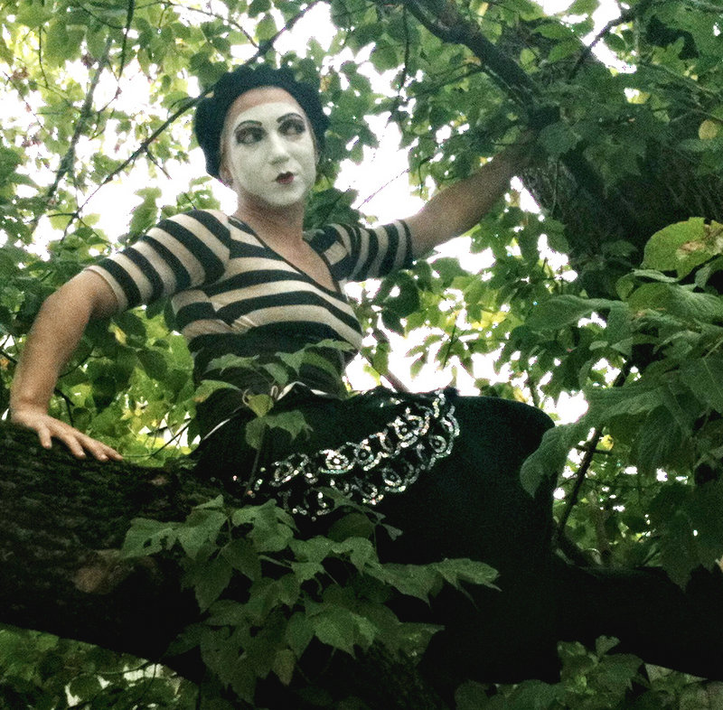 Mime Bettina Black plays the lead role in the current Smoke and Mirror show.