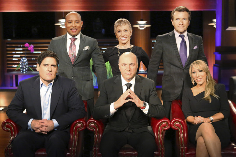 "The panel of rich investors that often put entrepreneurs on the spot on the TV show ""Shark Tank"" are, front row from left, Mark Cuban, Kevin O'Leary and Lori Greiner, and back row from left, Daymond John, Barbara Corcoran and Robert Herjavec."