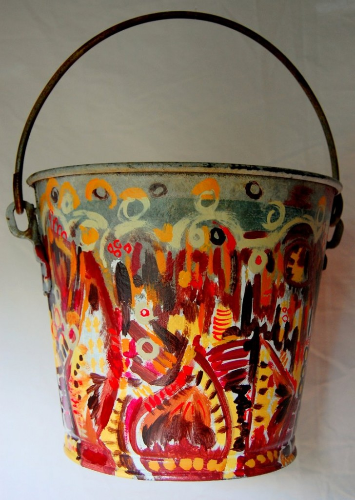 """Bucket of Chicken"" by artist Matt Demers, who worked with Snafu Acres in Monmouth"
