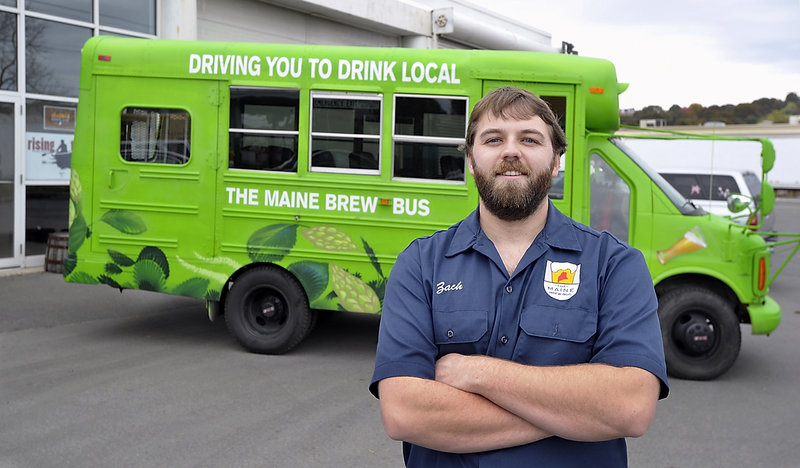 Zach Poole will be driving the Maine Brew Bus during Portland Beer Week.