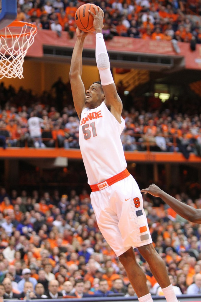 Fab Melo, who started playing basketball when he was 15, can score but was a defensive force at Syracuse.