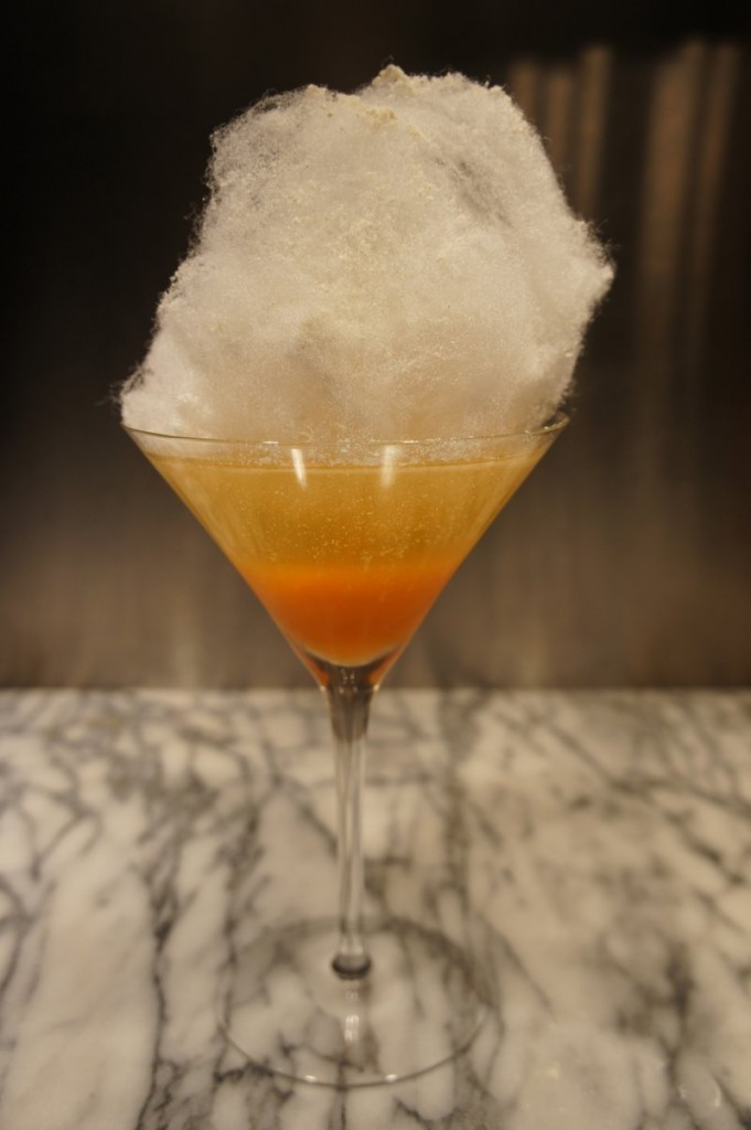 A Candy Corn Cocktail from the Kennebunk Inn.