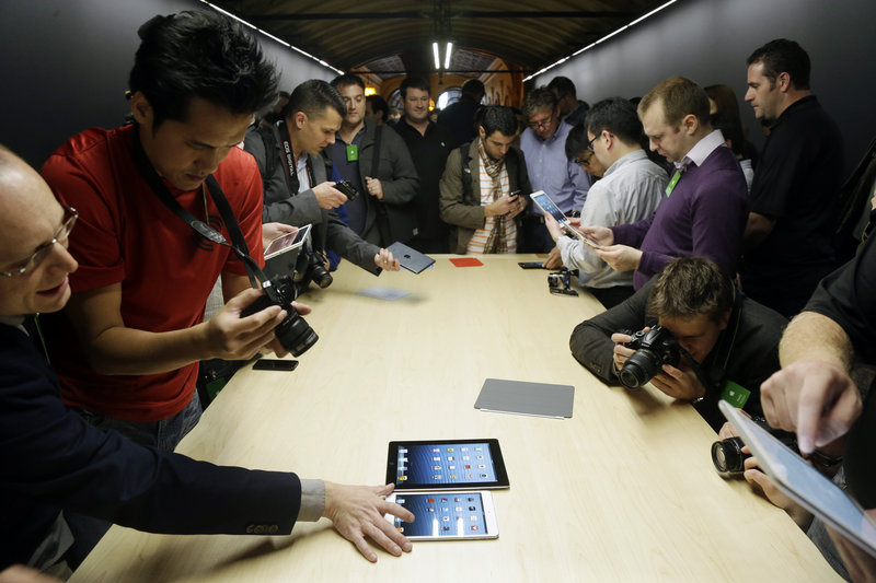 The iPad Mini debuts Tuesday in San Jose, Calif. Apple Inc. is pricing the Mini well above the competition's small tablets. Apple also revamped its full-sized iPad just six months after the launch of the latest model.
