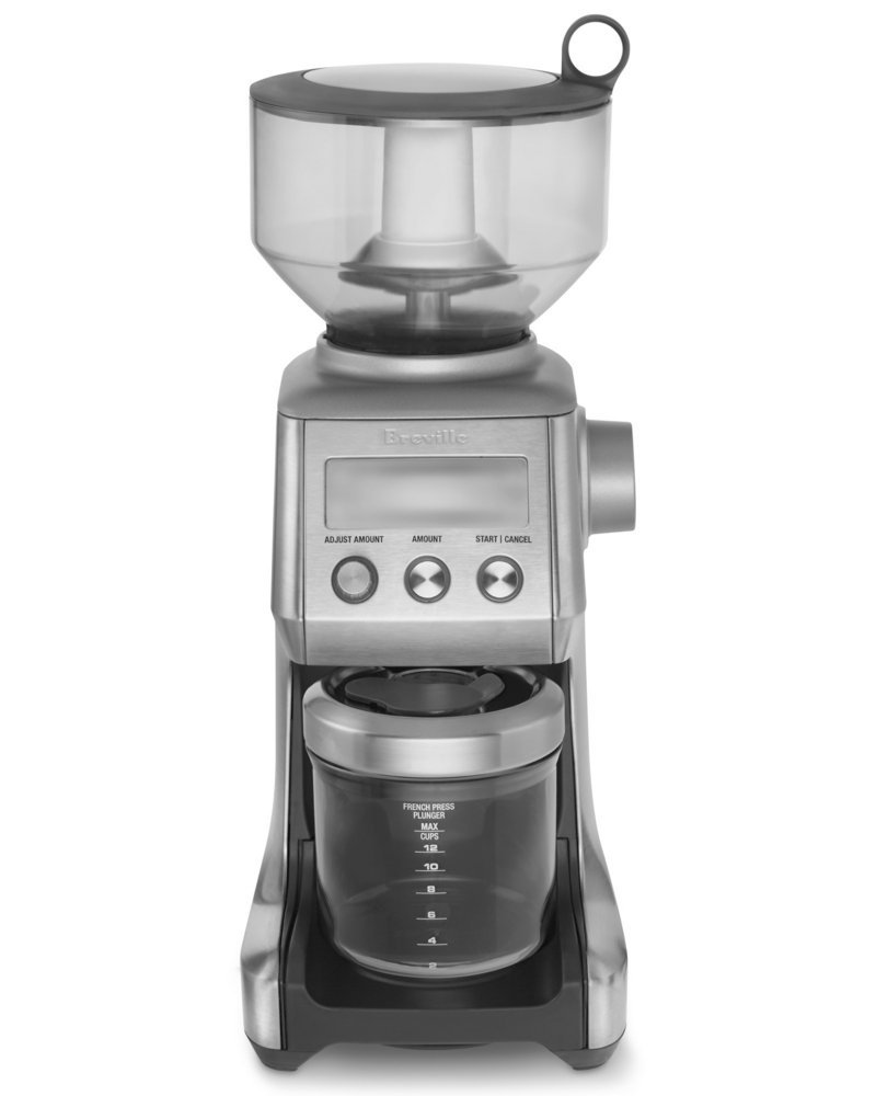The Breville Burr Grinder has 25 different settings. Coffee experts say that burr grinders yield a more consistent texture that results in a better brew.
