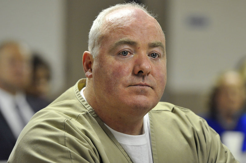 Michael Skakel listens as his bid for parole is denied during a hearing Wednesday.