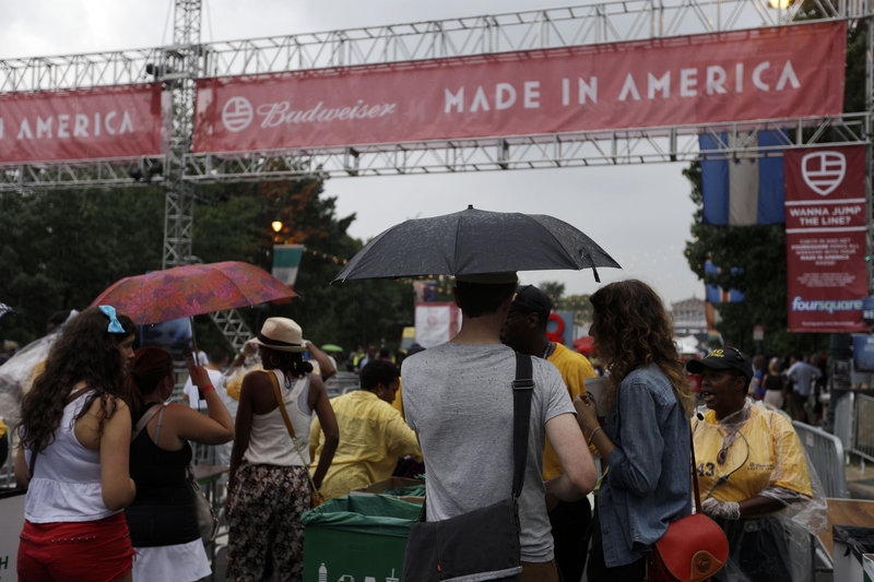 Even musicians have seized on the modern made-in-America movement. Early last month, for example, rapper Jay-Z led a two-day benefit concert in Philadelphia that drew good crowds despite rainy weather.