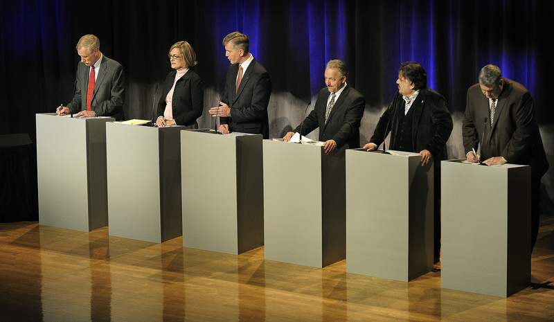 Candidates for the U.S. Senate in Maine square off in their final debate before the election Saturday night at Lewiston Middle School.