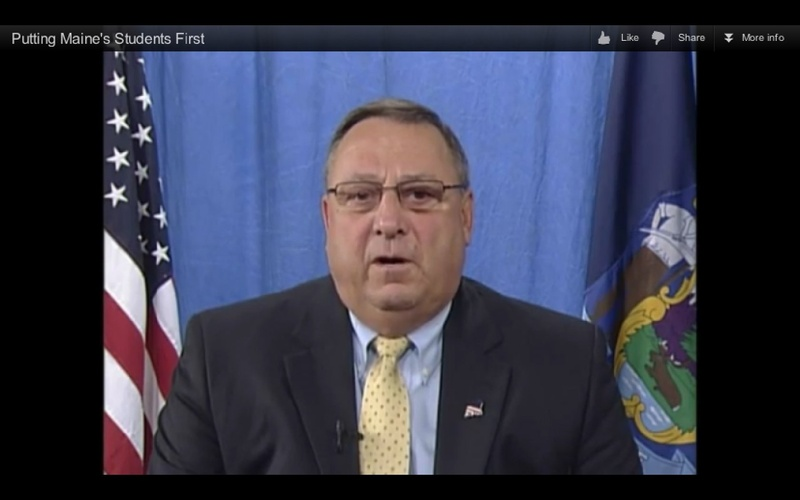 Gov. Paul R. LePage recently put out a video highlighting education reform.