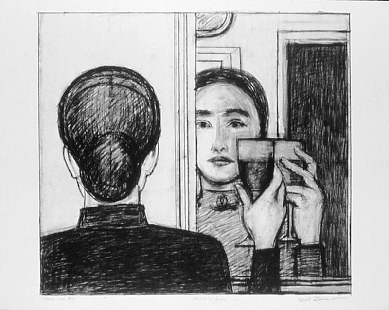 """Will Barnet's """"Between Life and Life,"""" a 1998 lithograph for the Print club of New York."""