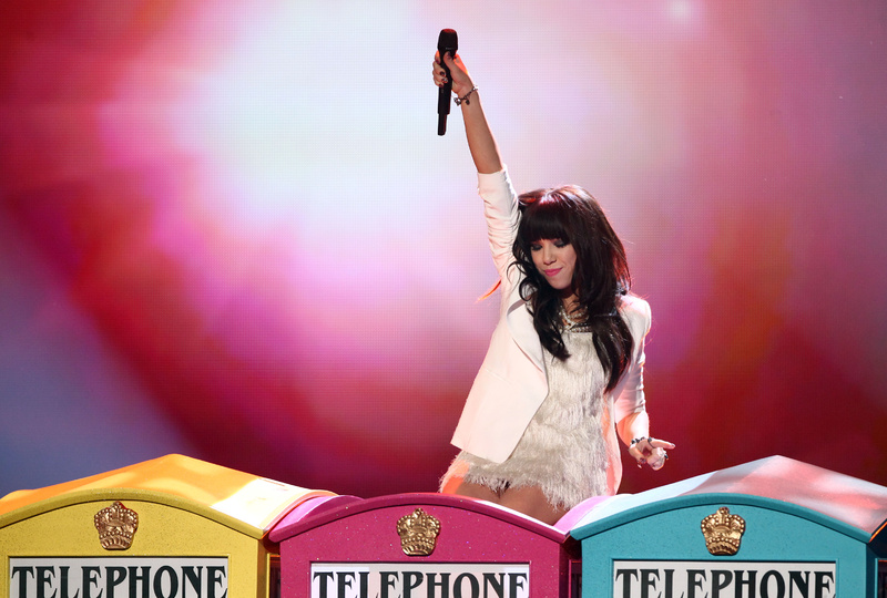 Carly Rae Jepsen performs at the 40th Annual American Music Awards on Sunday in Los Angeles. She was named favorite new artist.