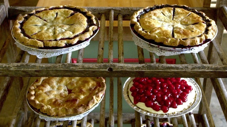 A Pie of the Month Club gift allows the recipient to choose a dozen pies through the year at Two Fat Cats bakery in Portland.