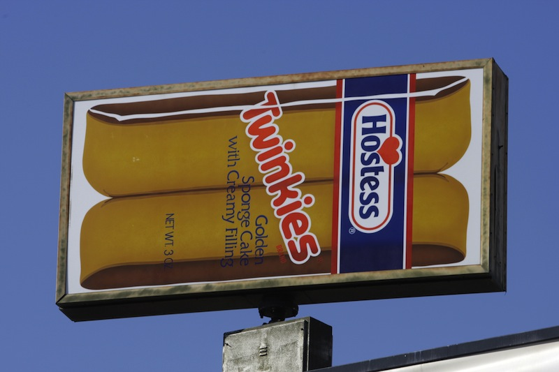A Hostess Twinkies sign is shown at the Hostess plant. A judge approved $1.8 million in bonuses for 19 Hostess executives, which has drawn sharp criticism in Maine. (AP Photo/Rick Bowmer, File)