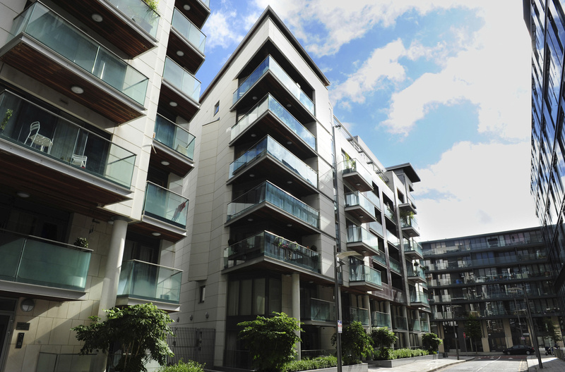 Residential apartments in the Docklands area of Dublin in 2011. For people with access to cash, signs of life in the real estate market are emerging in the epicenter of Western Europe's worst housing-market crash.