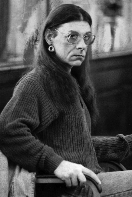 In this Jan. 15, 1993 file photo, Robert Kosilek, aka Michelle Kosilek, sits in Bristol County Superior Court, in New Bedford, Mass. Kosilek, a convicted murderer who won a court ruling ordering Massachusetts prison officials to allow her to have a sex-change operation, is now fighting for electrolysis treatments. (AP Photo/Lisa Bul, File)