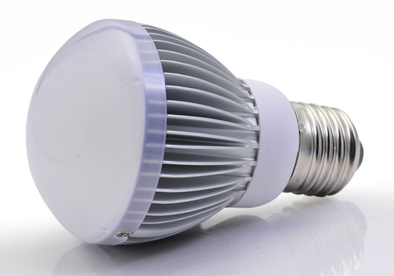 Above, a file photo of a high-efficiency LED light. Maine homes and businesses could trim their overall electricity consumption by 16 percent over the next decade by installing more-efficient lights, equipment and appliances, a new study for Efficiency Maine Trust has concluded.