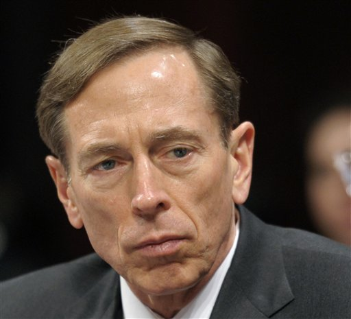 CIA Director David Petraeus testifies on Capitol Hill in this Feb. 2, 2012, photo.