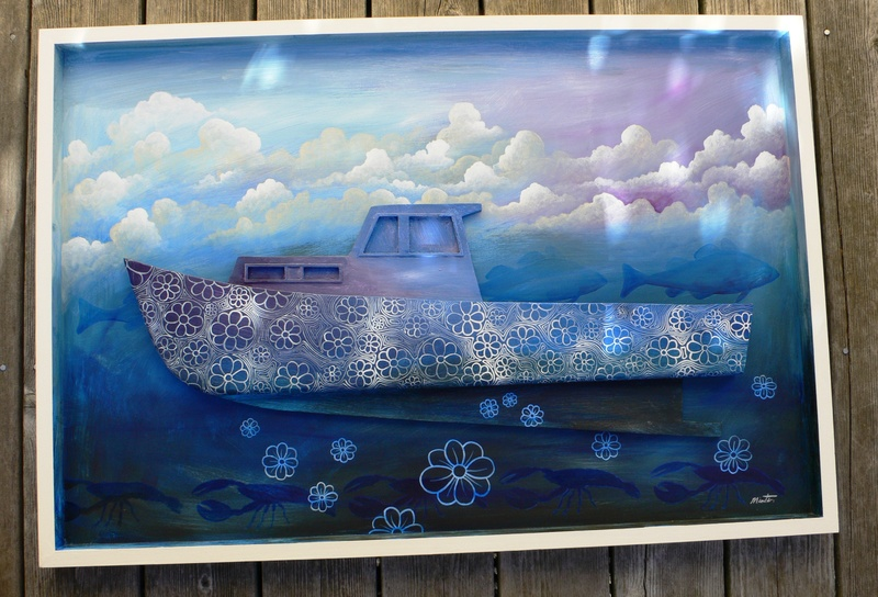 Artist Daniel Minter teamed with a student on this boat.