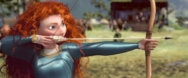 "Skilled archer Merida defies convention in ""Brave."""