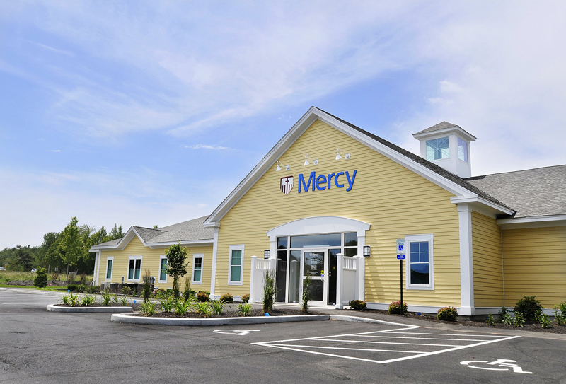 This June 2011 file photo shows Mercy Hospital's primary care facility on Route 1 in Yarmouth. Mercy was one of 16 Maine hospitals to receive an