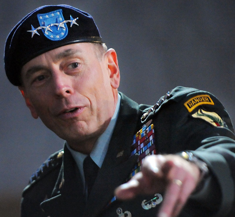Then-U.S. Central Commander Gen. David Petraeus in a Sept. 18, 2009, photo. Petraeus was the top war commander in Afghanistan before becoming director of the CIA.