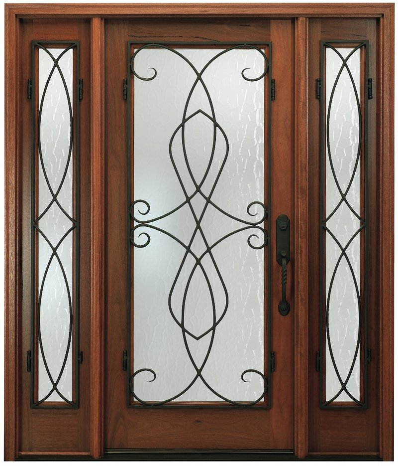 Pella's Wrought Iron Swirls door.