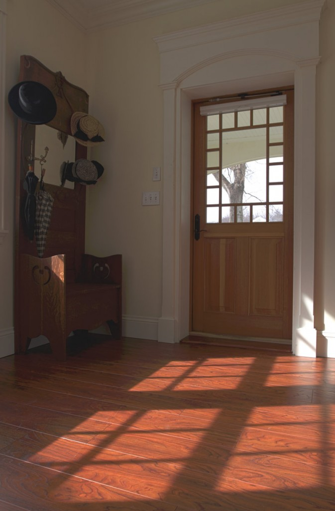 A view from the inside of one of the popular styles available in the Home Again by Hancock Lumber line of doors.