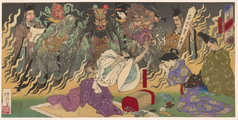 """The Ghost of Asakura Togo,"" by Utagawa Kuniyoshi, Japanese (1798–1861)."