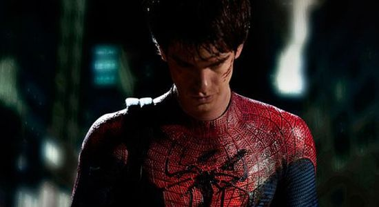 "Andrew Garfield in ""The Amazing Spider-Man."""