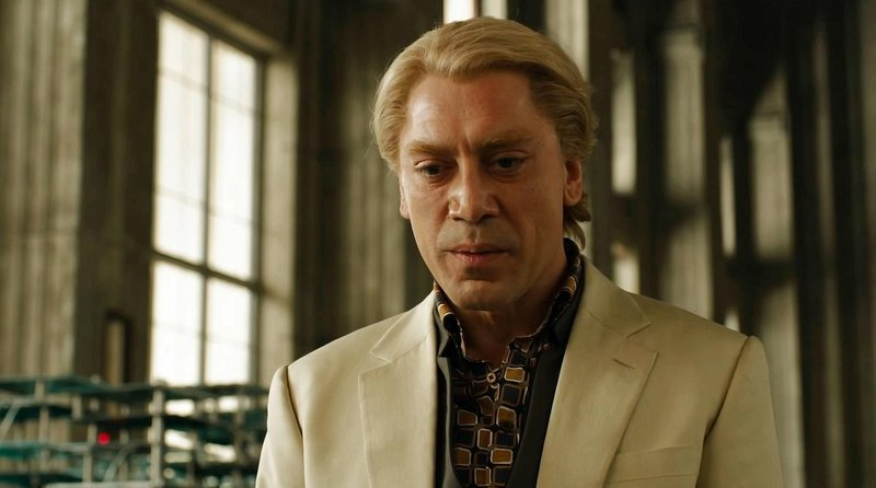 "The previous two Bond films had wanted for a worthy villain. Javier Bardem, as a murderous hacker, solves that problem in ""Skyfall."""