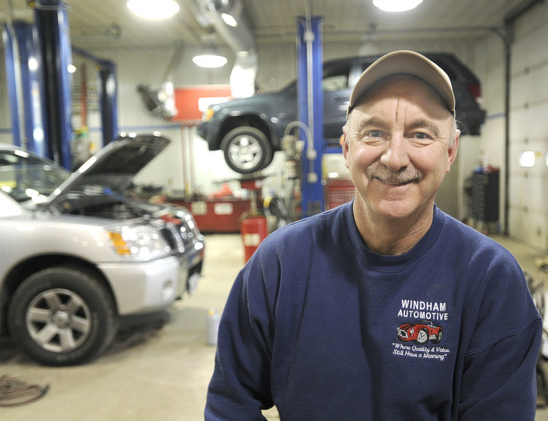 Ron Eby, owner of a Windham auto repair shop and a major fundraiser for Camp Sunshine, is one of four national finalists for NASCAR's Betty Jane France Humanitarian Award.