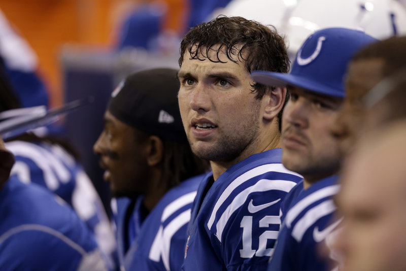Andrew Luck, a two-time Heisman Trophy runner-up, has lived up to all the hype just eight games into his NFL career as Peyton Manning's successor in Indianapolis.