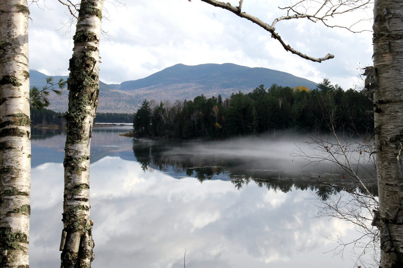 Flagstaff Mountain stands tall and proud as a marvelously moody mist blankets the North Branch of the Dead River along Route 27 in Eustis. DJ Rosenblad of Scarborough captured this serene image.