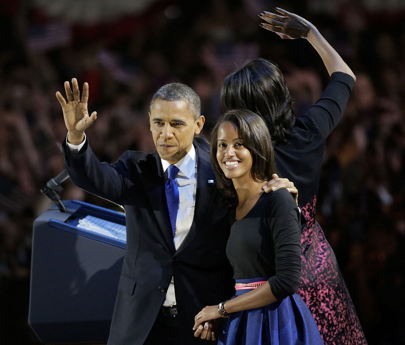 "President Obama and his daughter Malia wave toward the crowd at his election night party in Chicago on Wednesday. ""A complicit, completely biased liberal media machine"" ignored the many examples of the president's incompetence and pressed for his re-election, a reader says."