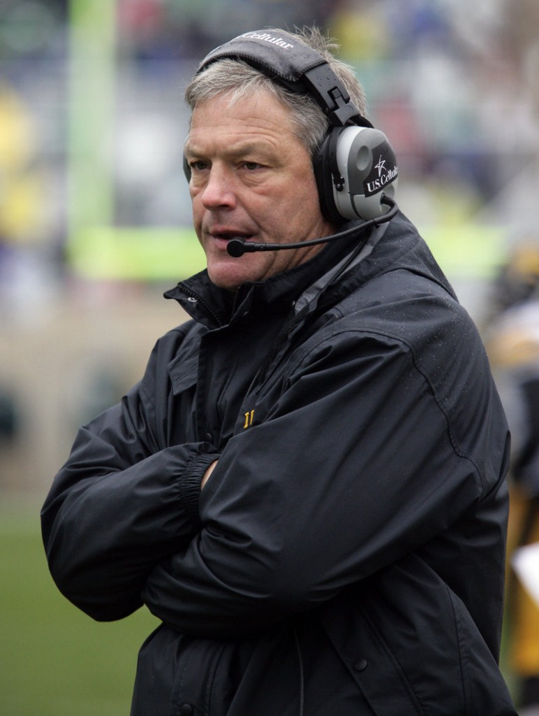 Kirk Ferentz, former UMaine coach, could be in the hot seat at Iowa, where he has been head coach since 1999.
